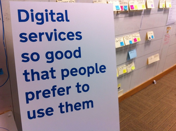 """Poster reading """"Digital services so good that people prefer to use them"""""""